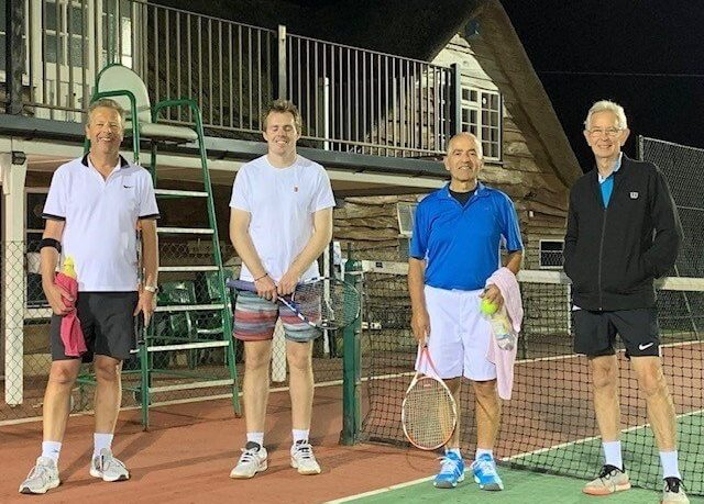 Sidmouth Tennis Club Men's B team (l-r) Martin Dawes, David Watkins, George Buttgieg and Bob Heffill. Picture Sidmouth Tennis Club.
