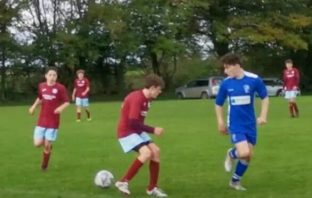 Action from the Brixington Blues U15s' 4-3 win at North Tawton. Picture: Paul Jeffery