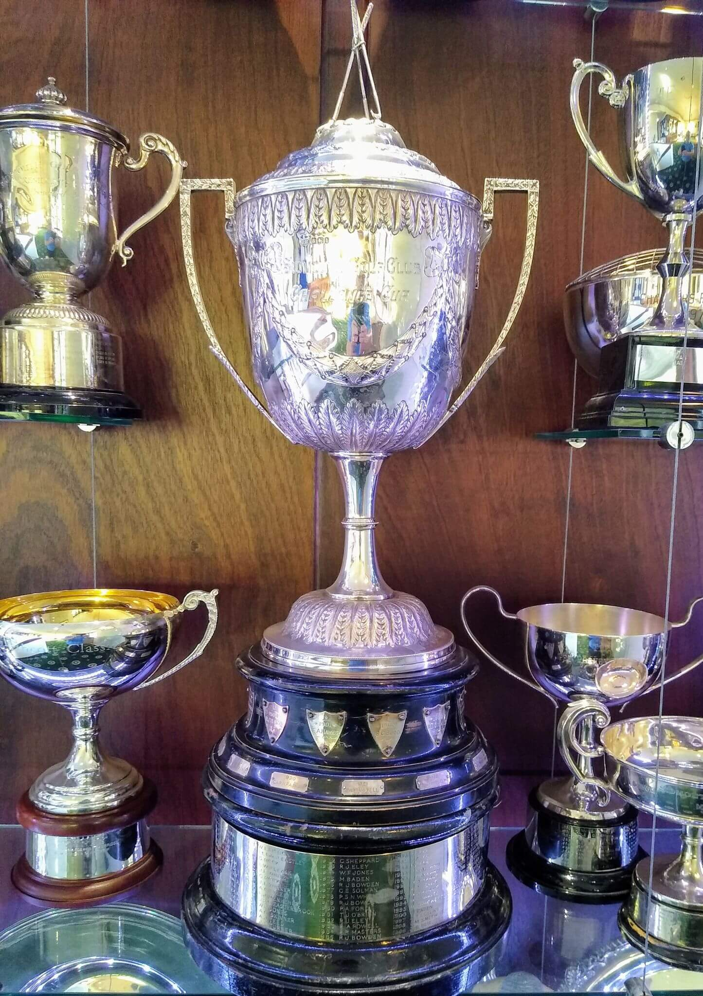 The Sidmouth Golf Club Challenge Cup, won for the second year running by James Spiller