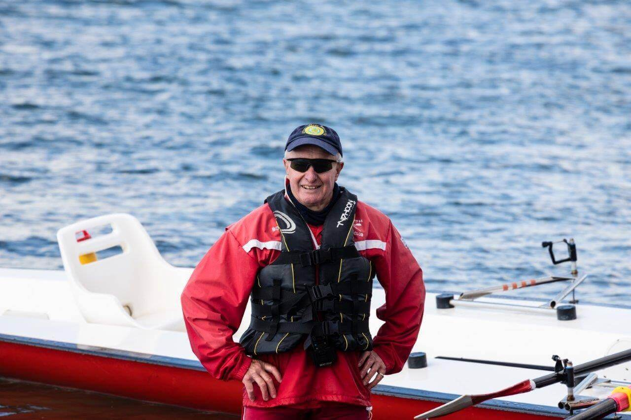Exmouth Rowing Club member Bob Board. Picture: Les Norcliffe
