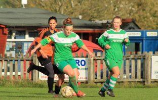 Seaton Town FC ladies in action against Plainmoor. Pictures: Sarah McCabe