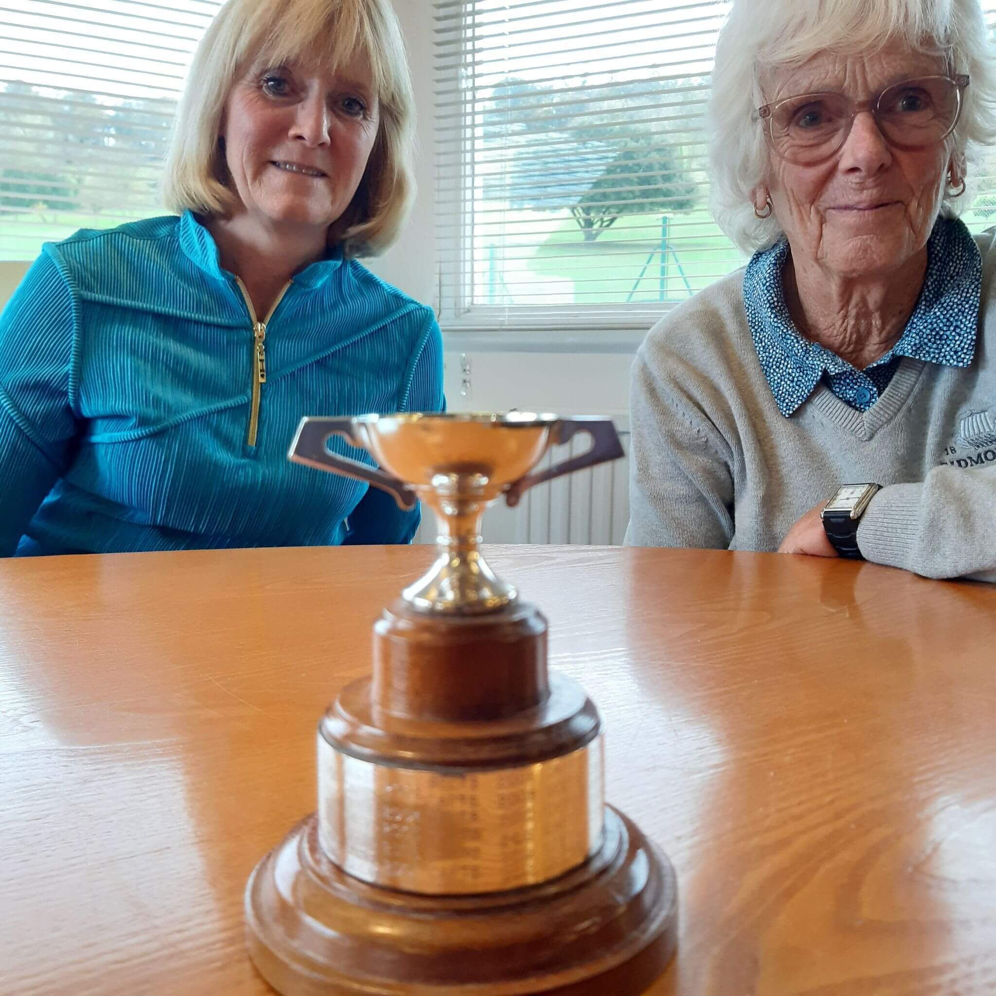 The Sidmouth ladies' secretary Gerri Whitrow and the Sidmouth ladies captain Penny Lyne after their respective teams met in the annual match. Picture: Sidmouth Golf Club