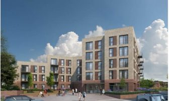 An artist's impression of the proposed Exeter apartment block. Image: Eutopia Homes