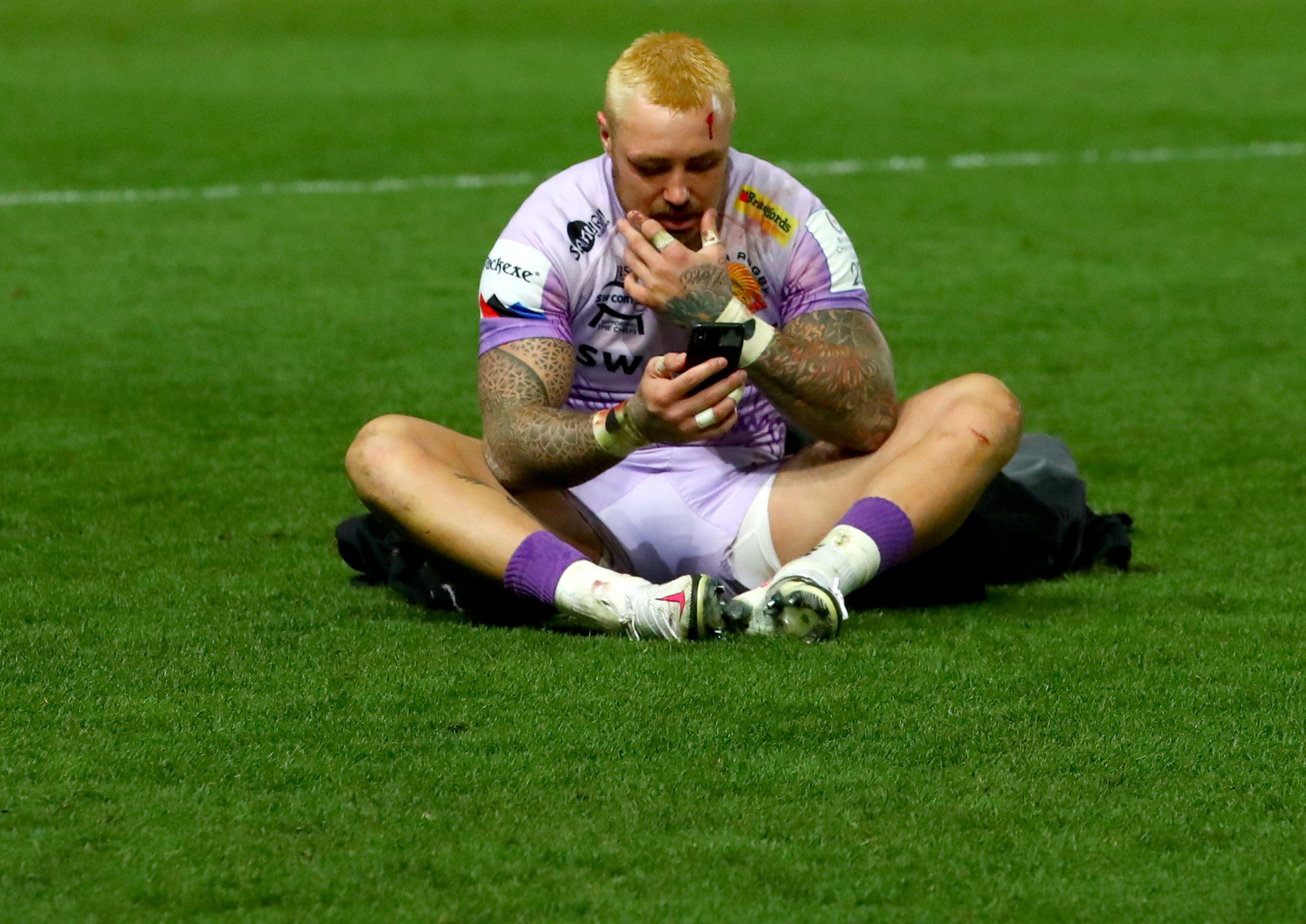 Jack Nowell after the game. Picture: ©INPHO/James Crombie