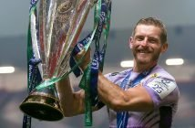 Gareth Steenson savours the Champions Cup success. Picture: ©INPHO/Rogan Thomson