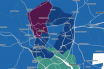 The Government's online map showing the 'clusters' of coronavirus cases in Exeter.