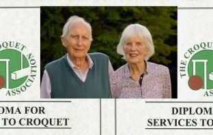 Sidmouth Croquet Club duo David and Nancy Temple, inset, have been awarded the Croquet Association Diploma.