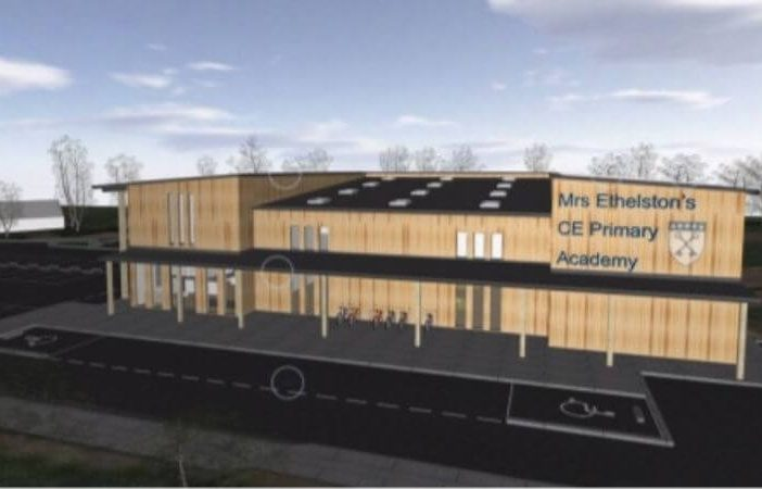 An artist's impression of the new Mrs Ethelston's CE Primary Academy serving Uplyme. Image from the planning application