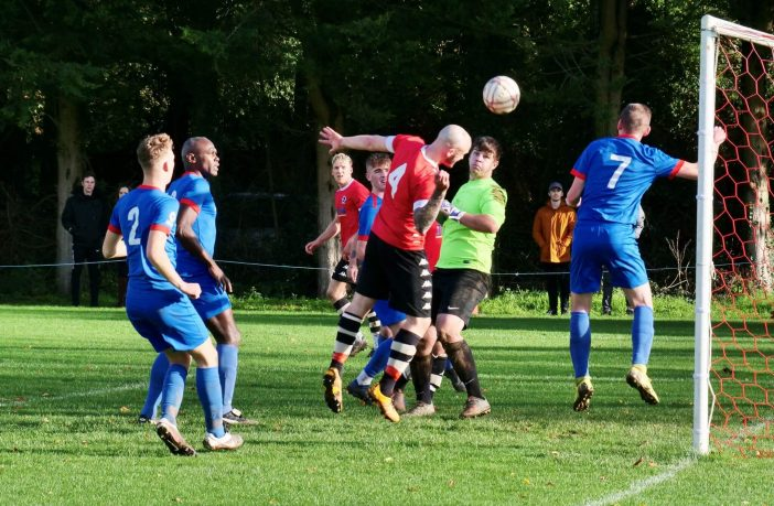 Honiton Town FC in action against Stoke Gabriel. Picture: Andrew Symonds
