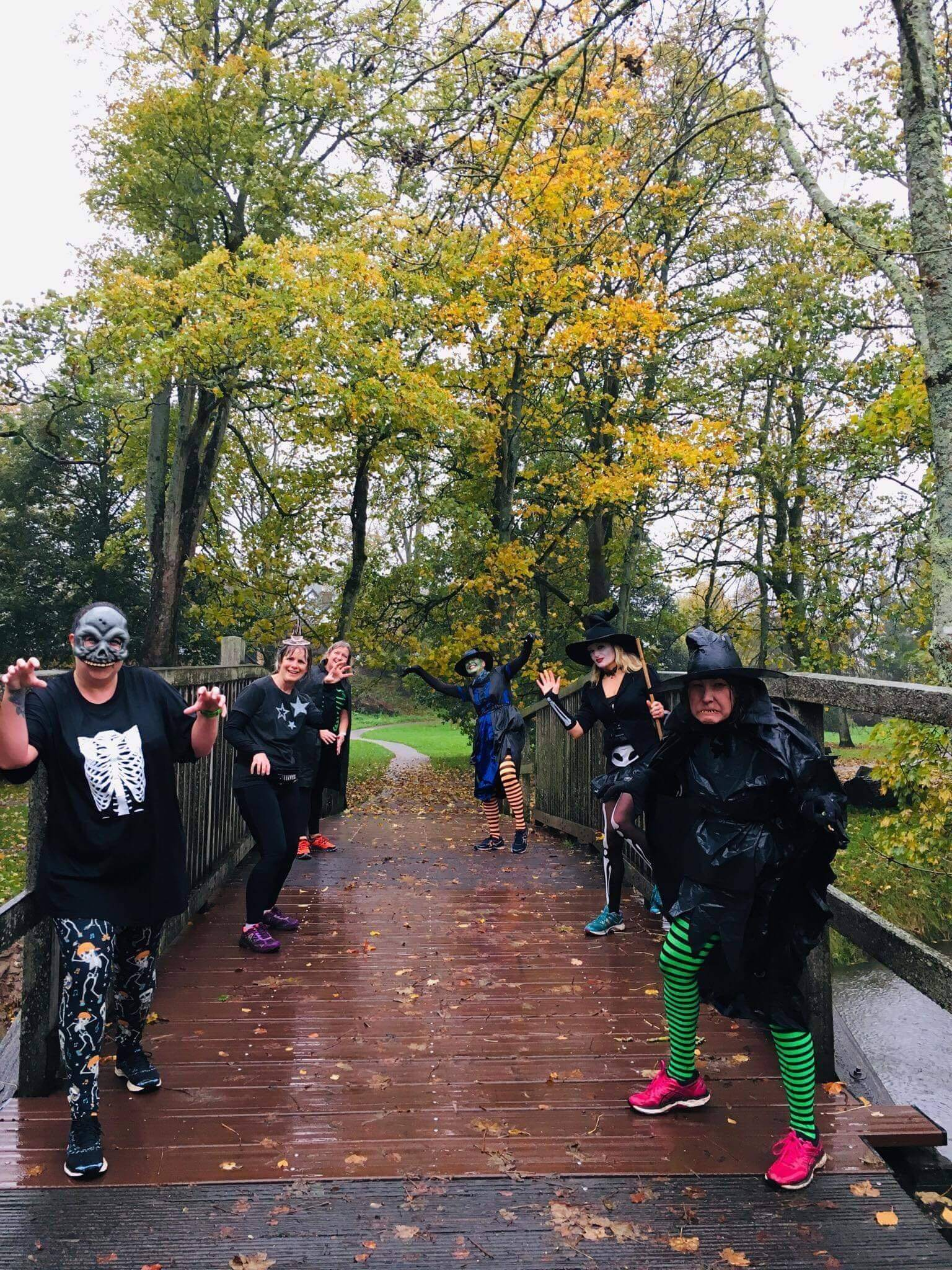 Sidmouth Running Club members during the Halloween run. Picture Liz Goldman