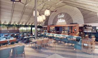 A CGI artist's impression of Mickeys Beach Bar and Restaurant which is due to open in Exmouth in March 2021. Image courtesy of Michael Caines / Design Command