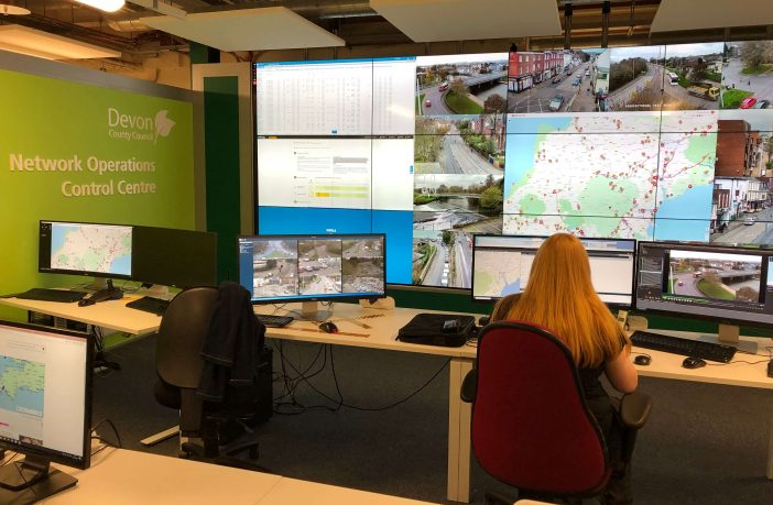The new control centre in Sowton, Exeter. Picture: Devon County Council