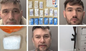 Ide: Lester Purdy (top, left), Jake Purdy (top, right), and Julian Eslick (bottom, middle) were jailed ay Exeter Crown Court. Images: Devon and Cornwall Police