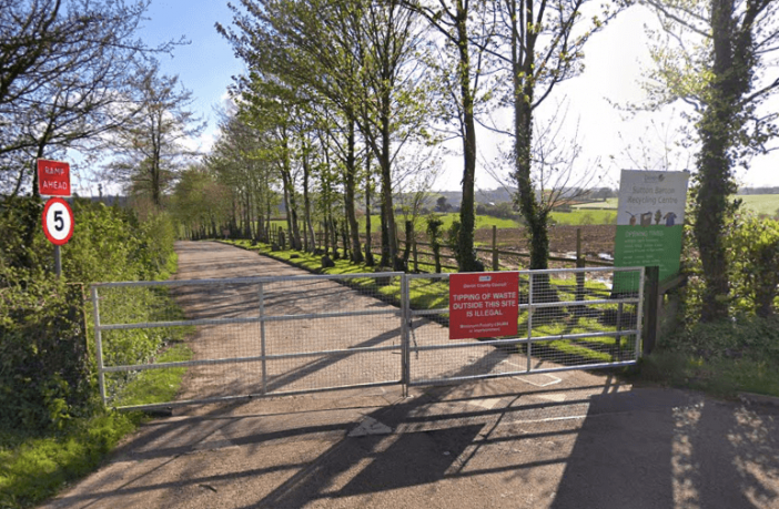 The Sutton Barton Recycling Centre at Honiton. Picture: Google Maps