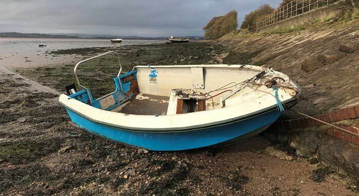 A boat wreck cleared from the Exe Estuary. Picture: Exeter City Council