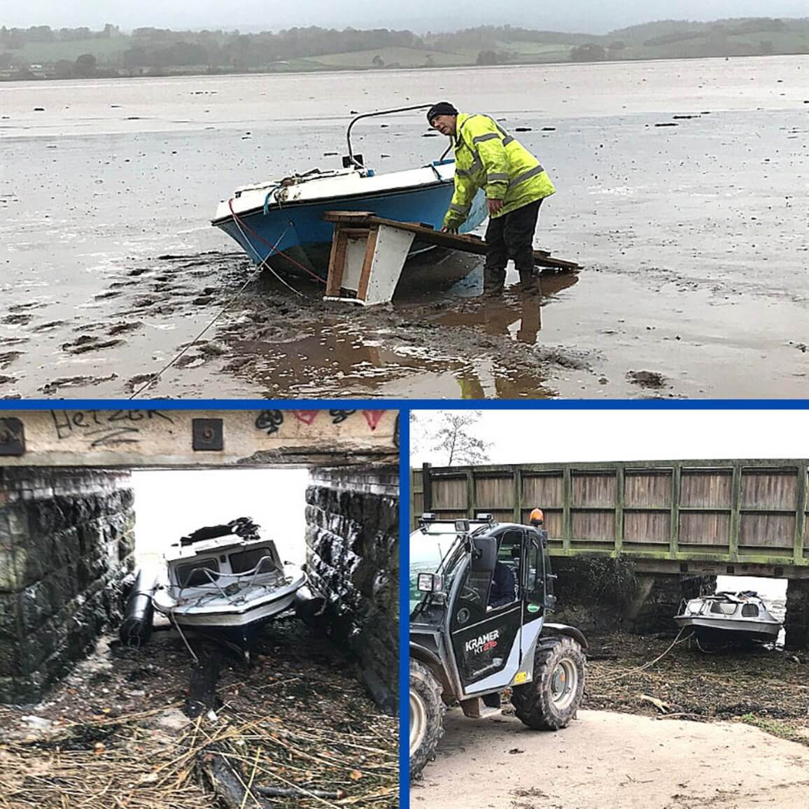 Boat wrecks cleared from the Exe Estuary. Pictures: Exeter City Council