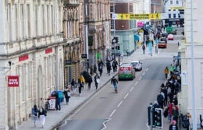 Queen Street in Exeter. Image: Devon County Council
