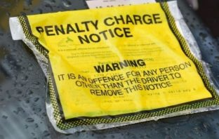 East Devon Exeter Exmouth Parking ticket. Photo by Tom Davis LDRS.