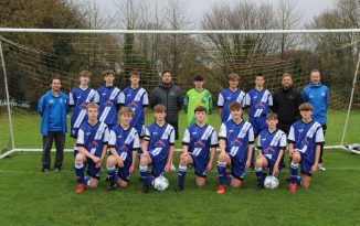 Ottery St Mary AFC U15s with Gary Yelland, of Artisan Roofing, before the team's 4-1 win over Culm Sampford. Picture: STEPHEN UPSHER