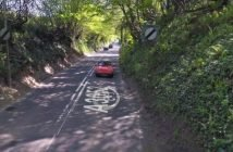 Four Elms Hill on the A3052 between Sidmouth and Newton Poppleford. Image: Google Maps