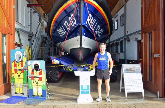 Des White outside Exmouth Lifeboat Station Picture: John Thorogood/ Exmouth RNLI