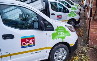 East Devon District Council's new fleet of electrical vehicles. Picture: EDDC