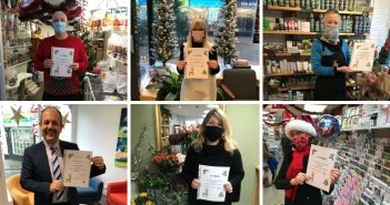 PHOTOS: Honiton Scouts present certificates to town's businesses for window displays as youngsters pack in festive-filled December of fun