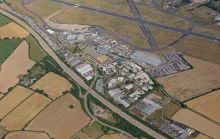 An aerial view of Long Lane and Exeter Airport. Image: East Devon District Council