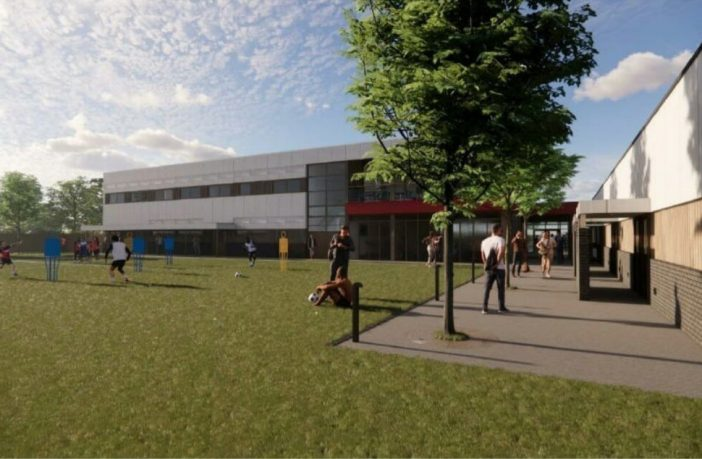An artist's impression of the proposed improvements to Exeter City FC's Cliff Hill Training Ground. Image from the planning application submitted to East Devon District Council