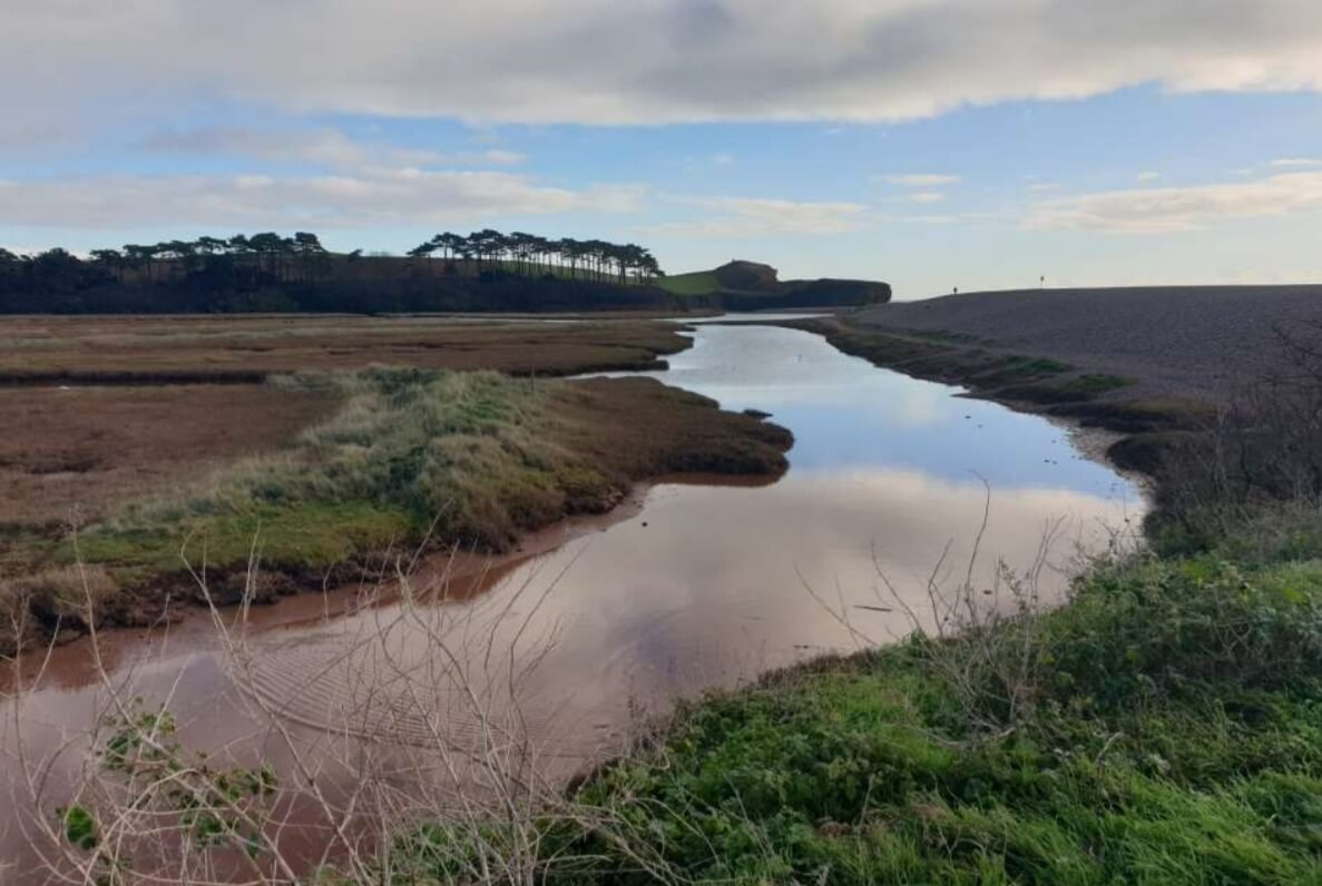 The River Otter at Budleigh Salterton. Image: EDDC