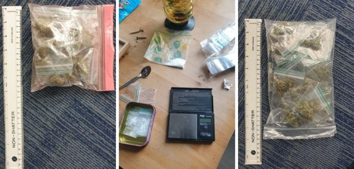 Exmouth police on patrol near town centre seize suspected cocaine and cannabis