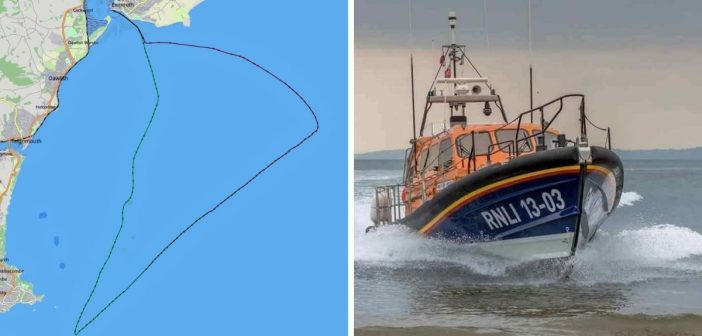 Fishing trawler taking on water near Sidmouth is rescued by Exmouth RNLI