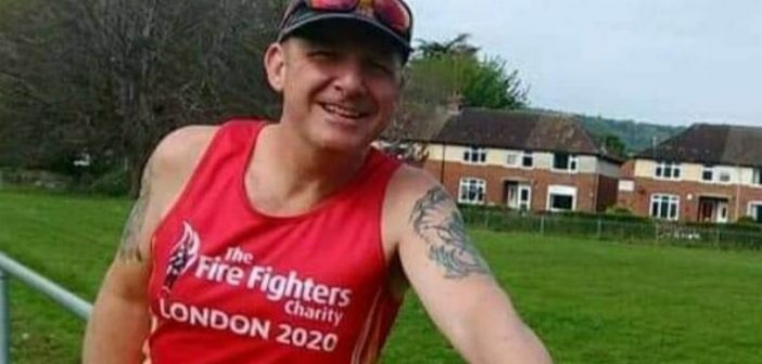 Sidmouth Running Club member Allan takes on 32-day Blue Light Challenge to boost The Fire Fighters Charity