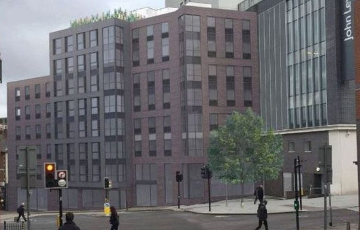 An artist's impression of the student flats plan for The King Billy pub in Exeter. Image: Rengen