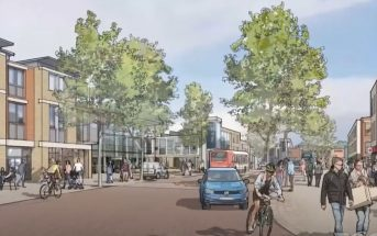 An artist's impression of plans for Cranbrook town centre. Image: East Devon New Community Partners