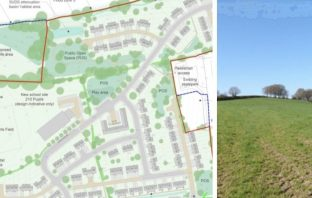 Plans for homes and a new primary school in Ottery St Mary. Images from the planning application: Devon County Council/NPS Group