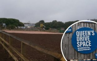 The site was a temporary overflow car park on Exmouth seafront.
