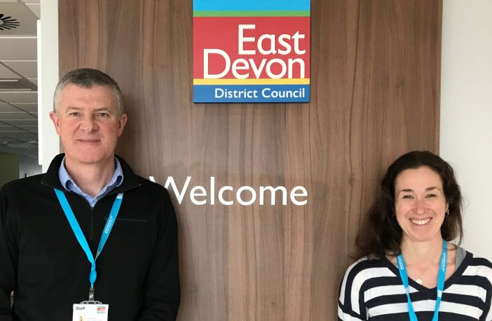 East Devon District Council Covid compliance officers Andy Squires and Rachel Payne. Picture: EDDC