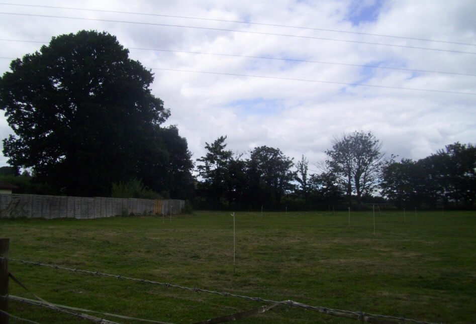 The mooted development site on land west of Kilmore House in Poltimore. Image shown to East Devon District Council's Planning Committee