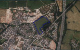 The site of the housing scheme for land north of Moonhill Copse in West Clyst. East Devon Exeter