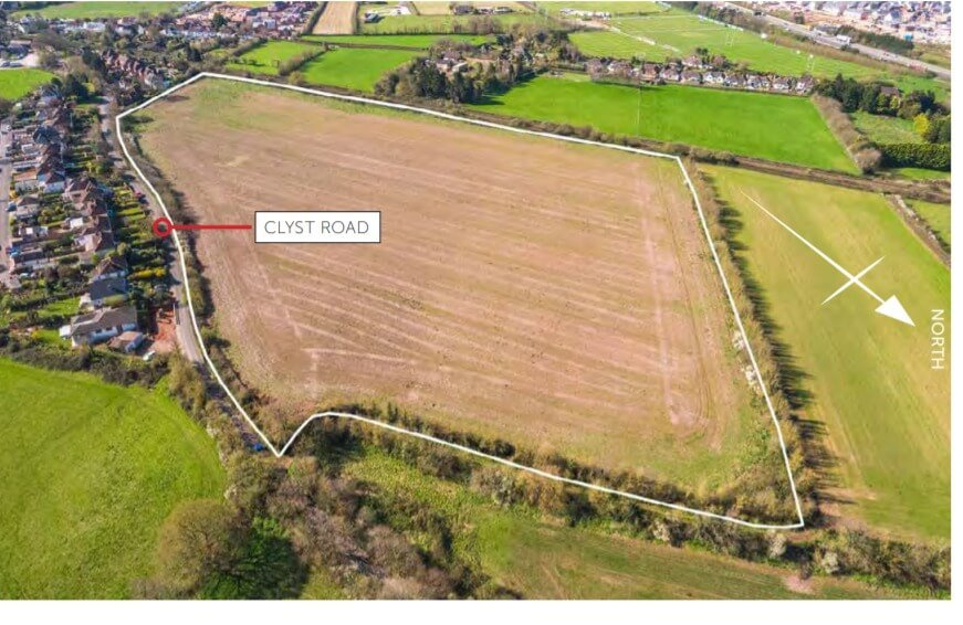 The Clyst Road site in the Topsham gap.