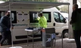 Exmouth Axminster Honiton East Devon The mobile Covid resting centre being trialled at Devon and Cornwall Police's Middlemoor HQ in Exeter. Picture: DCC