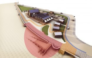 Where the Sideshore ramp will be constructed on Exmouth beach. Image: Grenadier