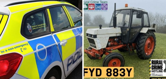 Vintage tractor stolen from farm near Axminster sparks police appeal for information