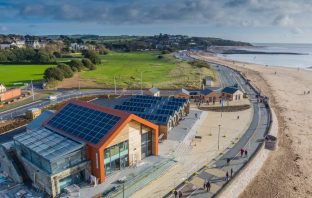 The Sideshore watersports centre on Exmouth seafront. Image: Grenadier