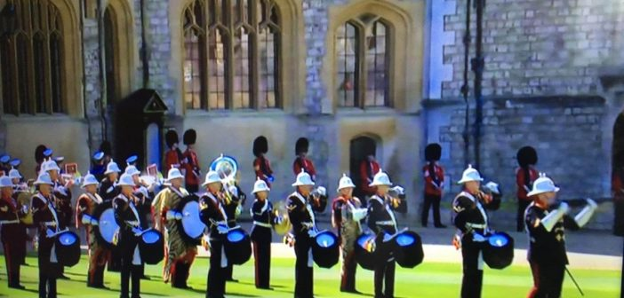 East Devon plays its part at Prince Philip's funeral as Lympstone Royal Marines Band performs