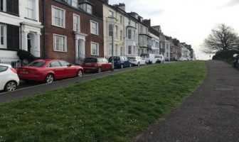 The green space at The Beacon in Exmouth. Image shown to EDDC's Planning Committee