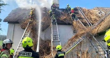 PHOTOS: East Devon pub team thanks community for kindness after blaze rips through thatch roof