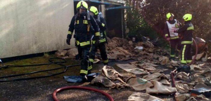 East Devon fire crews tackle blaze in Ottery St Mary garage