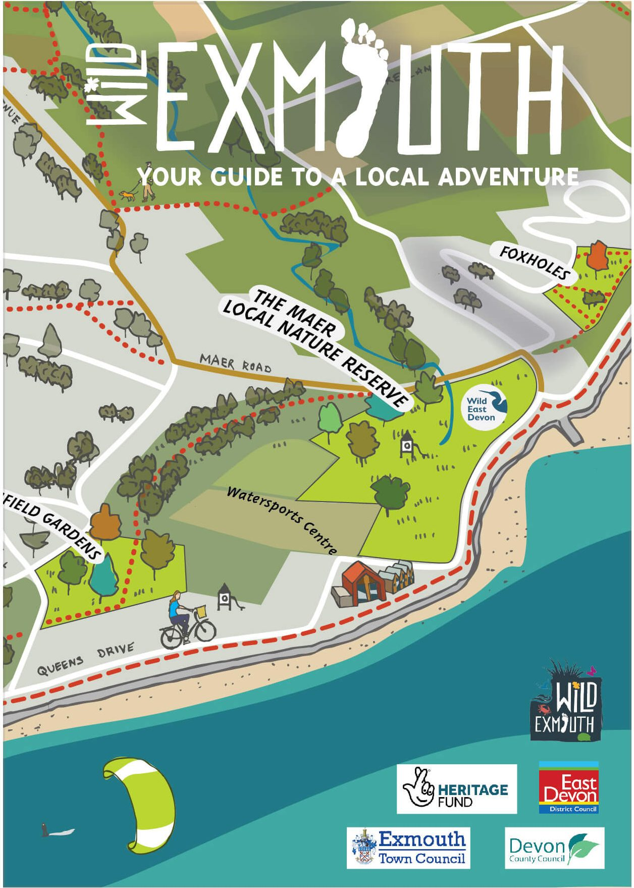 The map produced by Wild Exmouth.